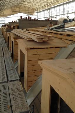 Pendant les travaux, la toiture