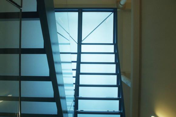 Escalier de secours (vue vers le haut)