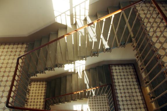 Escalier patrimonial (vue plongeante)