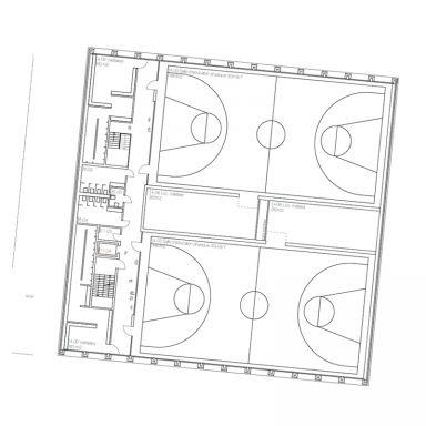 Salle de gymnastique 1er étage