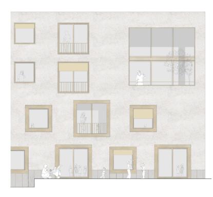 Matérialité de la façade