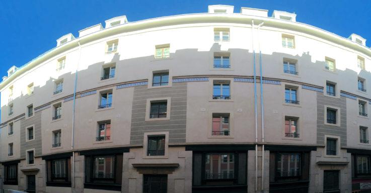 Après les travaux, la façade