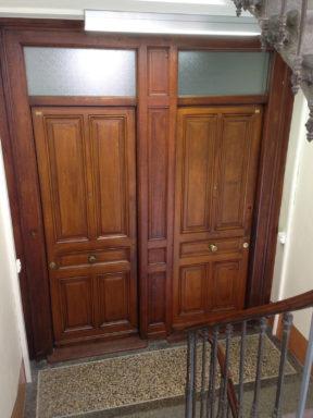 Après les travaux, les portes palières